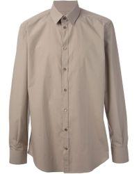 Dolce & Gabbana - Brown Classic Shirt for Men - Lyst