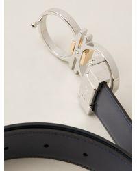 Ferragamo - Black Loop Buckle Belt for Men - Lyst