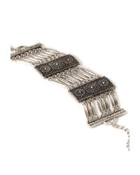 Forever 21 | Metallic Ornate Etched Bracelet | Lyst