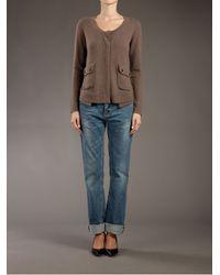 Duffy - Brown Knit Cardigan - Lyst
