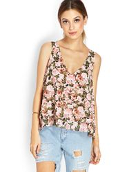 Forever 21 - Green Dainty Floral Chiffon Top - Lyst