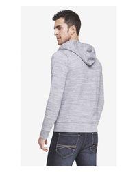 Express - Black Space Dyed Fleece Zip Hoodie for Men - Lyst