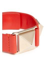 Valentino - Metallic 'rockstud' Macro Leather Bracelet - Lyst