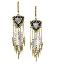 Sam Edelman | Metallic Goldtone And Mixed Bead Fringe Drop Earrings | Lyst