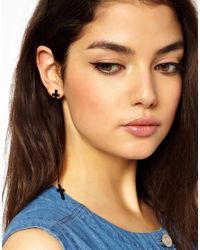 Ashiana   Black Long Cross Earrings   Lyst