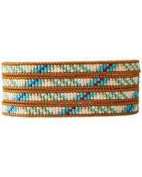 "Chan Luu - Multicolor 32"" Turquoise Mix/Henna Seed Bead Wrap Bracelet - Lyst"