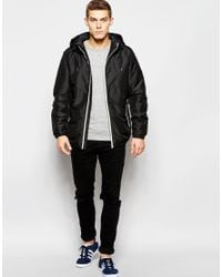 Jack & Jones | Blue Hooded Coat for Men | Lyst