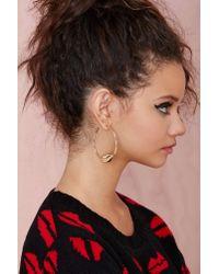 Nasty Gal - Metallic Lip Service Hoop Earrings - Lyst
