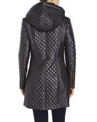 Via Spiga | Black Quilted Zip-front Jacket | Lyst