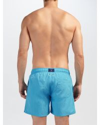 GANT - Blue Classic Solid Swim Shorts for Men - Lyst