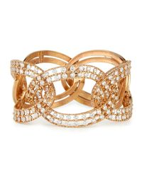 Staurino Fratelli | Metallic 18k Rose Gold Diamond Link Bracelet | Lyst