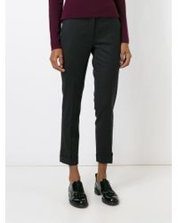 Etro - Black Cigarette Trousers - Lyst