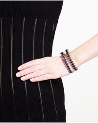 Chanael K | Blue Double-row Corundum Embellished Bracelet | Lyst