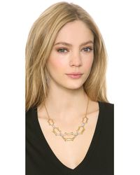 Alexis Bittar - Metallic Scalloped Link Crystal Necklace - Lyst
