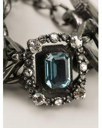 Lanvin | Green Chain Crystal Bracelet | Lyst
