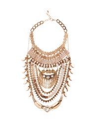 AKIRA | Metallic Love Me Chain Gold Coin Necklace & Earring Set | Lyst