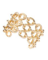 Sequin - White Chainlink Cuff Bracelet - Lyst