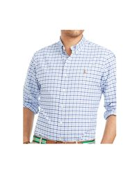 Polo Ralph Lauren | Blue Big And Tall Checked Oxford Shirt for Men | Lyst