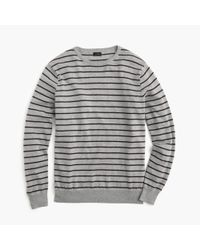J.Crew | Gray Slim Cotton-cashmere Sweater In Heather Fine Stripe for Men | Lyst