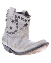 Golden Goose Deluxe Brand | Gray Cowboy Boots | Lyst
