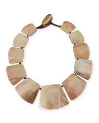 Viktoria Hayman - Pink Freeform Shell Collar Necklace - Lyst