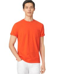 Calvin Klein | Orange Tonal Stripe T-shirt for Men | Lyst