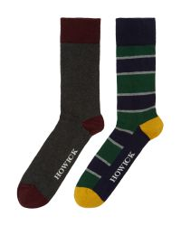 Howick - Green 2 Pack Rugby Stripe for Men - Lyst