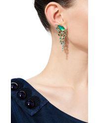 Stephen Webster - Gold Struck Crystal Haze Long Green Agate Quartz Earrings - Lyst