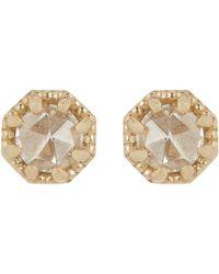Grace Lee - Metallic Women's Petite Crown Bezel Diamond Studs - Lyst