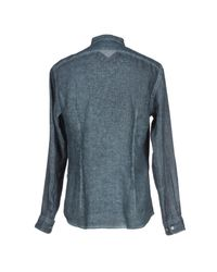 John Varvatos - Gray Shirt for Men - Lyst