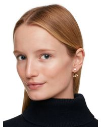 kate spade new york - Metallic Dainty Sparklers Delicate Ear Jacket - Lyst