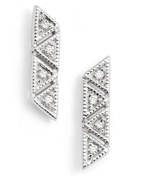 Dana Rebecca | Metallic 'kathryn Lynn' Diamond Stud Earrings | Lyst
