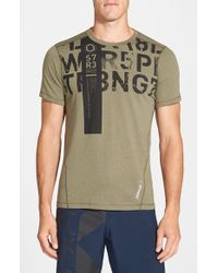 Reebok | Green 'one Series Strength' Playice Training T-shirt for Men | Lyst