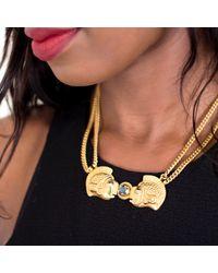 Rokus | Metallic Plenty Plenty Necklace With Labradorite | Lyst