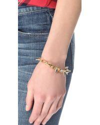 Joomi Lim - Metallic Metal Luxe Spike Bracelet - Gold/silver - Lyst