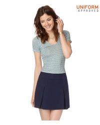 Aéropostale | Blue Pleated Uniform Skirt | Lyst