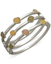 T Tahari - Metallic Open Hinge Bracelet - Lyst