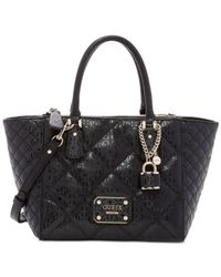 Guess | Black Ophelia East/west Status Satchel | Lyst
