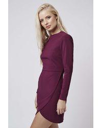 TOPSHOP | Purple Clean Wrap Dress | Lyst
