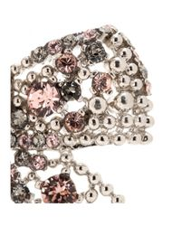 Miu Miu | Metallic Embellished Clip-on Earrings | Lyst