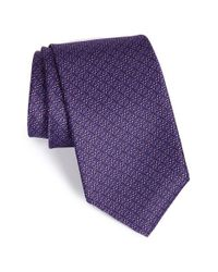 Robert Talbott | Purple Geometric Silk Tie for Men | Lyst