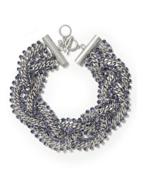 Banana Republic | Metallic Braided Chain Necklace | Lyst