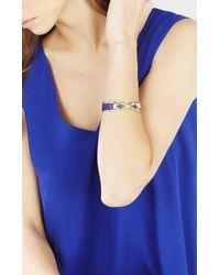 BCBGMAXAZRIA - Blue Faux-leather Knot Cuff - Lyst