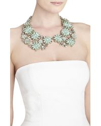 BCBGMAXAZRIA - Blue Floral Peter Pan Collar Necklace - Lyst