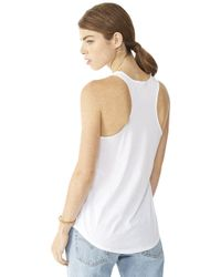 Alternative Apparel - White Satin Jersey Shirttail Tank Top - Lyst