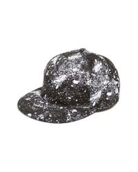 ELEVEN PARIS | Black 'pight' Print Snapback Cap for Men | Lyst