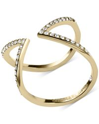 Michael Kors | Metallic Open Arrow Clear Pavé Ring | Lyst