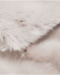 Zara | Gray Maxi Faux Fur Stole | Lyst