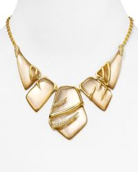 Alexis Bittar | Natural Crystal Embellished Sabre Bib Necklace, 16"