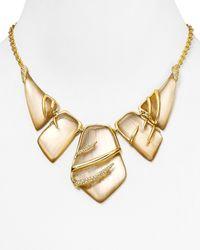 """Alexis Bittar - Natural Crystal Embellished Sabre Bib Necklace, 16"""" - Lyst"""
